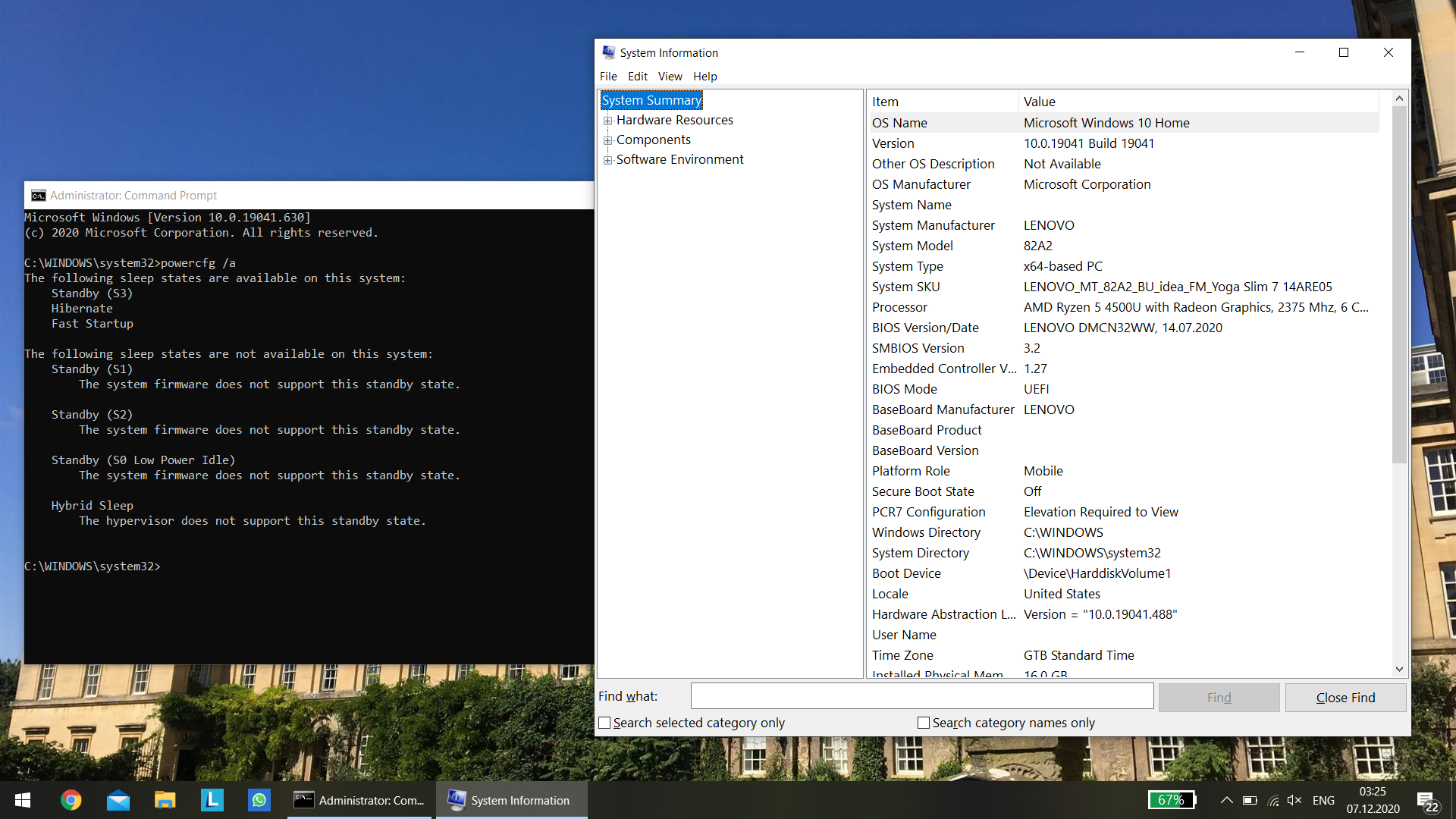 Windows with patched DSDT and PlatformAoAcOverride for S3 support